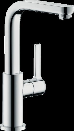 Hansgrohe - Metris - Egykaros mosdócsaptelep 230 elforgatható kifolyóval és push-open lefolyó-garnitúrával -