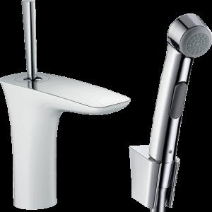 Hansgrohe - PuraVida - Egykaros mosdócsaptelep bidette kézizuhannyal és 160 cm zuhanycsővel -