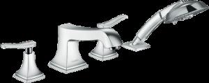 Hansgrohe - Metropol Classic - 4-lyukú peremre szerelhető kádcsaptelep nyitókarral -