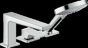Hansgrohe - Metropol - 3-lyukú peremre szerelhető egykaros kádcsaptelep karos fogantyúval és Secuflex-vel -