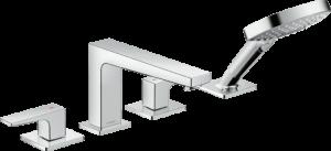 Hansgrohe - Metropol - 4-lyukú peremre szerelhető kádcsaptelep nyitókarral -